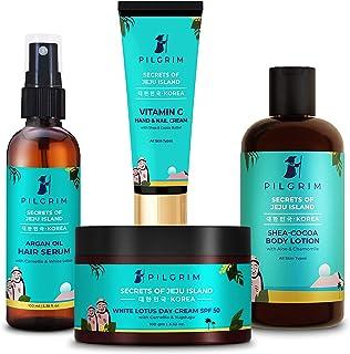 Pilgrim Head to Toe Moisturising Essentials | Enhances natural glow | Improves Elasticity | Day Cream SPF 50 100g |Hand & ...