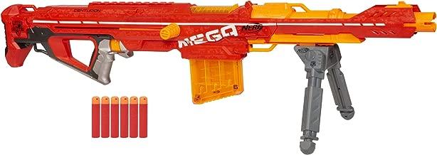 Nerf Centurion Mega Toy Blaster with Folding Bipod, 6-Dart Clip, 6 Official Mega Darts,..