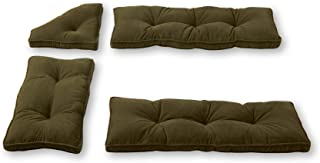 Greendale Home Fashions Cherokee Solid Microfiber Nook Cushion Set, Sage Green, Pack of 4