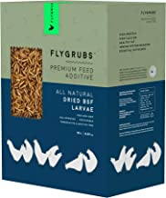 FLYGRUBS Superior to Dried Mealworms for Chickens (10 lb) - 85X More Calcium Than Meal Worms - Non-GMO Chicken Feed Additi...