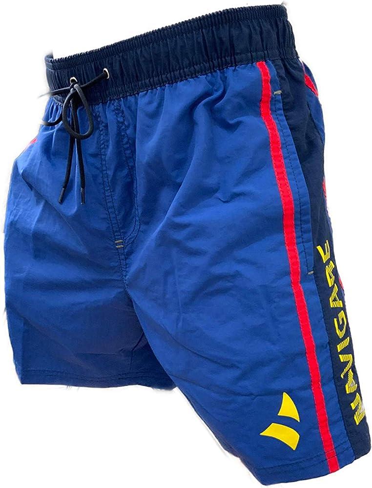 navigare costume da bagno a pantaloncini da uomo 100% poliestere bluette 098353