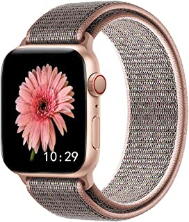 Misker Sport Band Compatible with for Apple Watch Band 38mm 40mm 42mm 44mm,Soft Lightweight Weave Watch Band Compatible with for iWatch Series 5 4 3 2 1