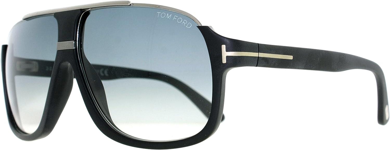 Tom Ford Men's Elliot Sunglasses in Matte Black Gradient Blue FT0335 02W 60
