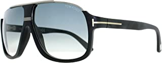 Men's Elliot Sunglasses in Matte Black Gradient Blue FT0335 02W 60