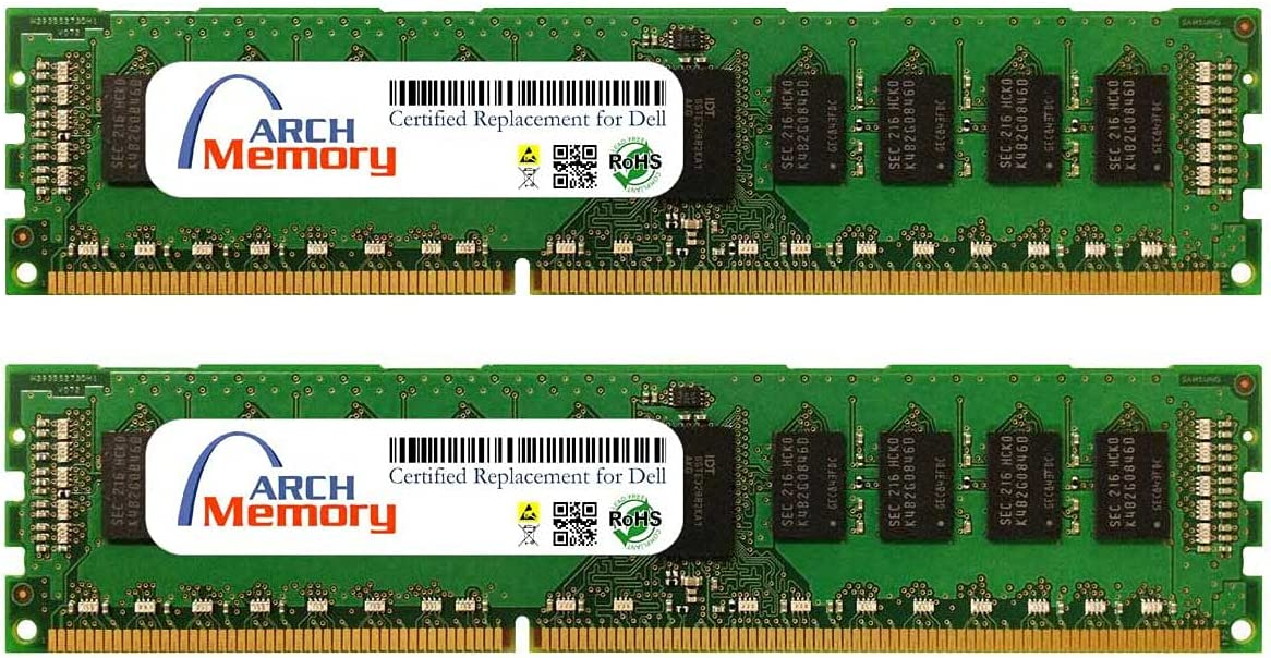 Arch Memory Replacement for Dell SNPMGY5TC/16G A6996789 32 GB Kit (2 x 16 GB) 240-Pin DDR3L ECC RDIMM Server RAM for Precision Workstation T5600