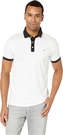 Short Sleeve Jacquard Collar Polo