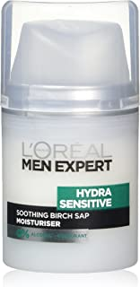 L'Oreal Men Expert Hydra Sensitive Soothing Birch Sap Moisturizer 50 ml, Pack of 1