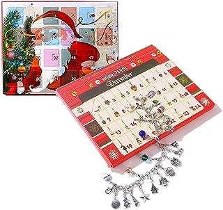 Deesos Calendario dell' avvento fai da te bracciale collana set con 22 ciondoli moda gioielli calendari dell' avvento cont...