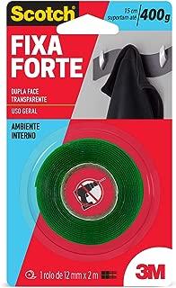 Fita Dupla Face 3M Scotch Fixa Forte Transparente - Uso Interno - 12 mmx2 m, Scotch, HB004419873
