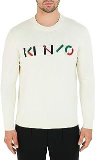 Kenzo Embroidered Chest Logo Crew Neck Knit (Colour : Ecru - Size : Medium)