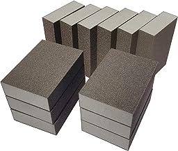 12 Pack Sanding Sponge,Sackorange Coarse/Medium/Fine/Superfine 6 Different Specifications Sanding Blocks Assortment,Washab...