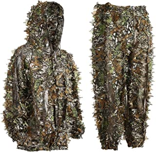 EAmber Ghillie Suit 3D Leaf Camo Youth Adult Lightweight...