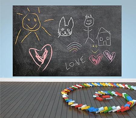 Chalkboard Wall Decal Design 008-8 tall x 12 wide