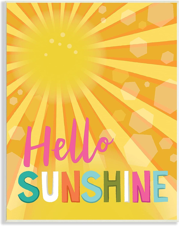 Stupell Industries Dedication Bold Hello Radiant Typography Yellow Japan Maker New Sunshine