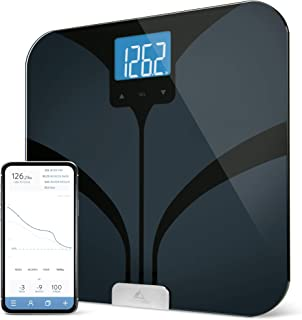 Bluetooth Smart Body Fat Scale by Weight Gurus Secure Connected Solution for your Data including BMI Body Fat Muscle Mass ...