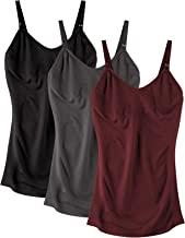 BRLIDO Womens Nursing Camisole Tank Top Maternity Bra Breastfeeding Shirts