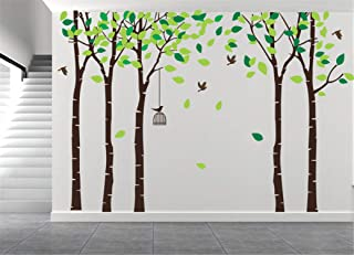 AmazingWall 180X264cm/70.9x103.9 Cartoon Large Tree Wall Sticker Living Room Bedroom Kids' Room Nursery Decor Home Decorations Removeable 1PCS/Set