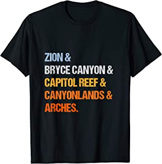 utah national parks shirt