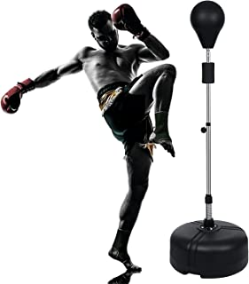 Cosway Professional Punchingball Standbox Punching Bag Trainer Height Adjustable Reflex Bag Boxen Set for Home Outdoors