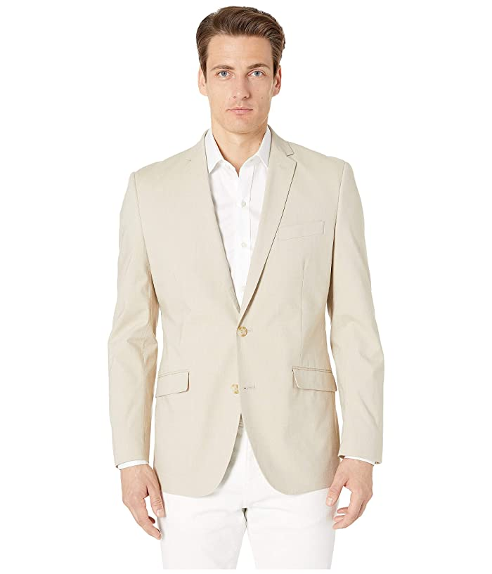 Kenneth Cole Reaction  Unlisted Chambray Sports Coat (Beige) Mens Jacket