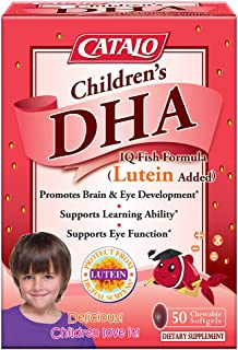CATALO - Children's DHA IQ Fish Formula (Lutein Added), Support Brain Eye Development with Omega 3, DHA, EPA, and Lutein f...