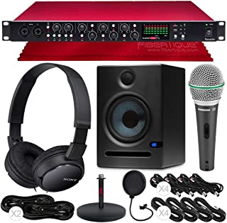 Focusrite Scarlett OctoPre 8-Channel Mic Pre Expansion with 8 ADAT Inputs/8 Analog Outputs and Monitors + Microphone + Headphones + Cables Platinum Bundle