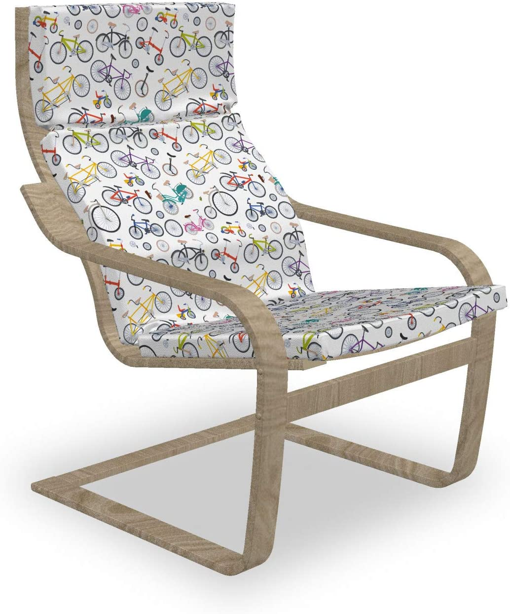 Super Special SALE held Ambesonne Bicycle Armchair Pad and Style Retro Max 74% OFF Colorf Slipcover