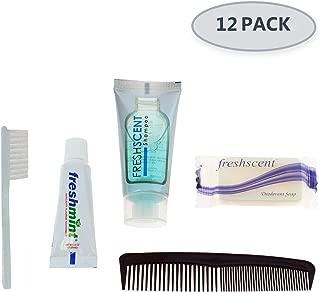 Bulk Case of Wholesale Basic Hygiene & Toiletry Kits for Men, Women, Travel, Charity … (12 - Kits)