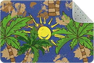 Doormat Custom Indoor Welcome Door Mat, Palm Tree Patterns Home Decorative Entry Rug Garden/Kitchen/Bedroom Mat Non-Slip R...