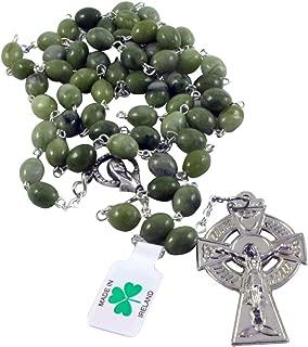 Irish Connemara Marble Rosary Prayer Beads Handcrafted
