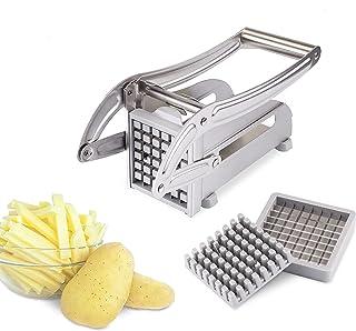 Verdelife Coupe-frites professionnel en acier inoxydable pour pommes de terre et légumes pour usage domestique et commercial