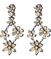 Oscar de la Renta - Crystal Star Chandelier C Earrings