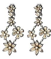Oscar de la Renta - Crystal Star Chandelier C Earrings