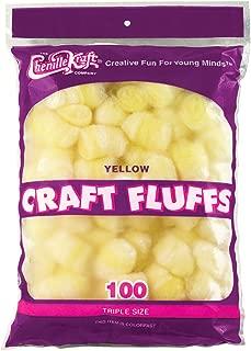 Creativity Street Craft Fluffs (100 Pack), 4 oz, Yellow