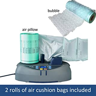 EA 2 Air Cushion Machine, Portable Air Bubble Pillow Maker, Inflatable Packaging Machine with 2 Free Film Rolls