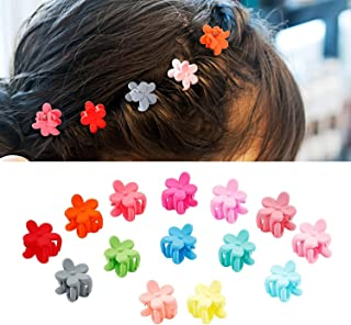 Sanas 50pcs Mini Butterfly Clips, Attractive Comfortable Flower shaped Small Claw Clips Kids Hair Accessories, No Slip Tin...