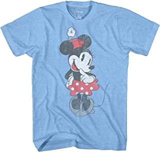 Disney Shy Minnie Mouse Graphic Tee Classic Vintage Disneyland World Mens Adult T-Shirt Apparel