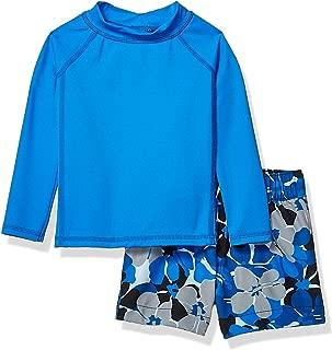 Amazon Essentials UPF 50+ Baby Boy's 2-Piece Long-Sleeve Rashguard and Trunk Set