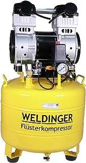 WELDINGER Flüsterkompressor FK 150 up innenbeschichteter 35 l Tank 1100 W (Silent Kompressor Kolbenkompressor) 5 Jahre Garantie