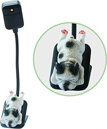 Book Reading Clip Light for Books, Tablet or Kindle LED Lamp has 2 adjustable settings for Brightness. Lightweight, Perfect for Bookworms, Kids Reading in Bed & Dog Lovers, Novelty Cute Clip on & Clas