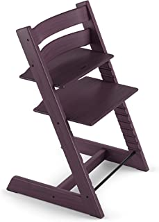 TRIPP TRAPP® Silla evolutiva de madera | Silla de altura regulable perfecta para bebés, niños y adultos | Tipo de madera: Beech | Colour: Plum Purple