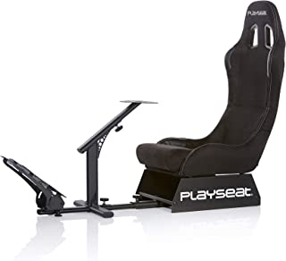 Playseat Evolution, Black Alcantara Racing Video Game Chair For Nintendo XBOX Playstation CPU Supports Logitech Thrustmast...