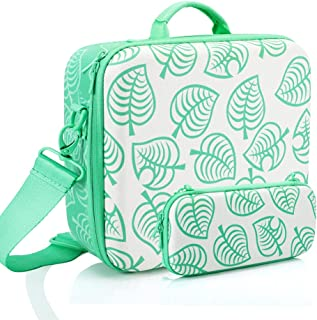 Travel Carrying Case for Nintendo Switch System, Protective Hard Shell Deluxe Messenger Bag Included 26 Game Storage Slots...