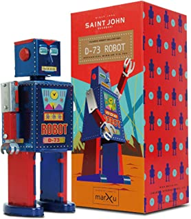 5 pcs Robots Theme Party Activity Colorful Spring Wind-up Dancer Dancing Walking Robot Toy for Baby Kid Children,Robot Buddies for Kids Role Playing