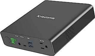 Krisdonia 130W / 27000mAh Power Bank Generador de energía eléctrico portátil - 1x AC Toma de energia - 2X USB (Quick Charge) - 1x USB Type-C - Cargador para Teléfono/Tableta/PC/Computadora
