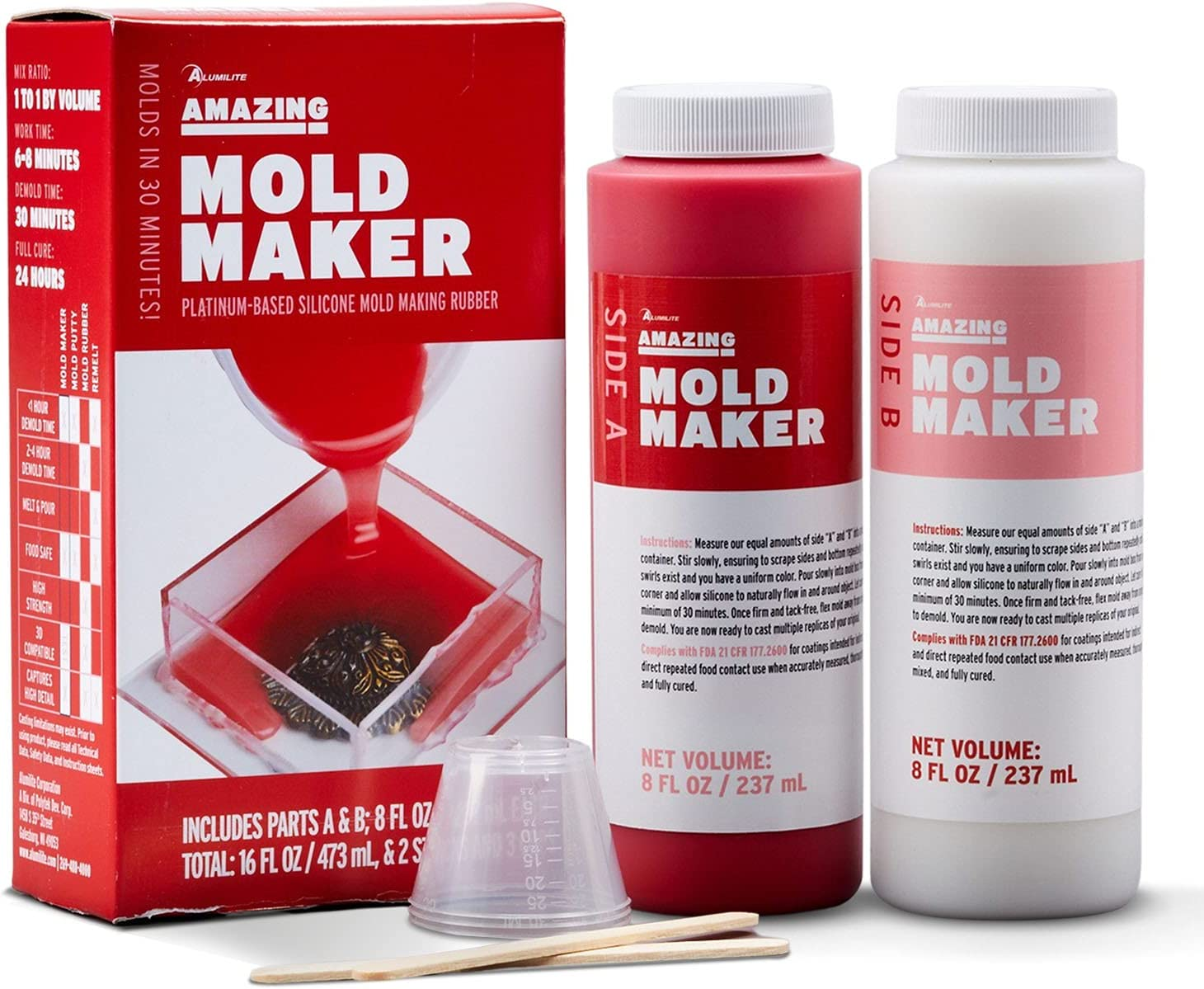 Alumilite Amazing Mold Maker 8 Max 67% OFF fl B oz A Today's only + ounces 16