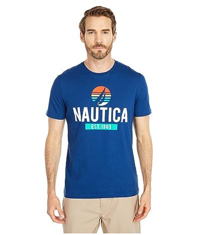 Nautica Graphic Tee (Blue) Men