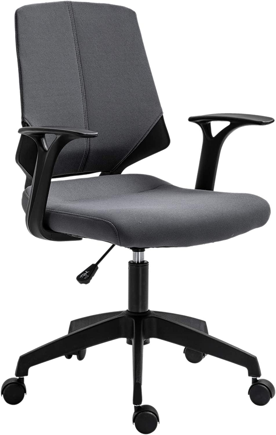 Vinsetto Mid-Back Task Chair Ergonomic Home Office Chair Full Padded Height Adjustable with Arm-Rest