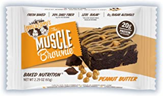 LENNY & LARRY'S Peanut Butter Muscle Brownie, 2.29 Ounce (Pack of 12)