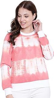 TEXCO Hot Pink Tye Dye Full Sleeves Women Sweatshirt